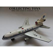 Brinquedo Antigo - Avião De Lata - Rei - Varig Anos 80