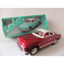 Brinquedo Antigo Réplica Karman Ghia De Lata - Impecável