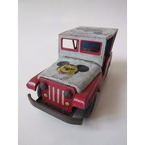 Estrela Antigo Carrinho De Lata Jeep Do Mickey Anos 60