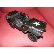 Jeep Militar Plastico Sucata Brinquedo Antigo -estrela-atma-