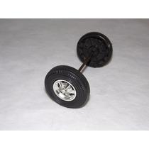Eixo Frente C/roda Fusca Bate Volta Estrela Brinquedo Antigo