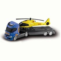 Caminhão De Brinquedo E Helicóptero Executive Orange Toys