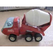 Caminhão Betoneira Metal Brinquedos Rei