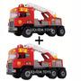 Kit 2 Caminhão Super Bombeiro Resgate - Magic Toys
