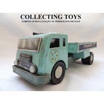 Brinquedo Antigo - Caminhão De Lata - Metalbrink - Brasil