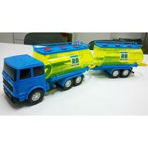 Caminhão Tanque Bitrem Carreta Petroleiro De Brinquedo 42cm