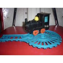 Brinquedo Antigo Trem A Pilha Com Trilho Funcionando Show