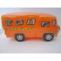 Brinquedo Antigo Ônibus Escolar Plástico Bolha - Pica Pau