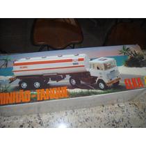 Caminhão Scania Tanque Esso Da Elka Anos 80 Com Caixa