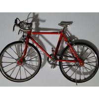 Mini Bicicleta Metal Corrida Vermelha Freio Pneu Borracha