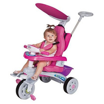 Triciclo Fit Trike Super Rosa Estofado - Magic Toys Oferta!!