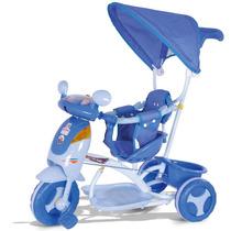 Triciclo Infantil Evolution Azul Som E Luz Cotiplás