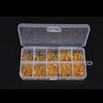 Anzol De Pesca - Caixa Com 600 Anzol Dourado + Caixa
