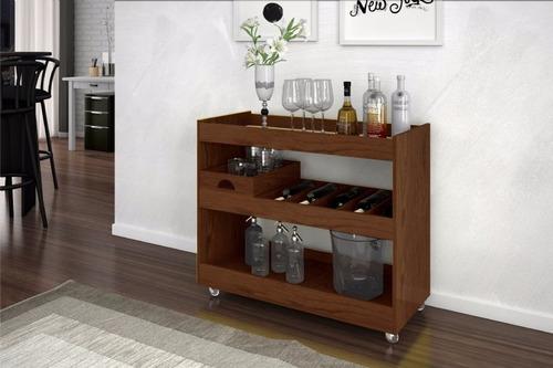 Sala Pequena Com Barzinho Moderno ~ Aparador Bar Para Sala Com Espelho Jb 4030 Imbuia  Movz  R$ 205,00