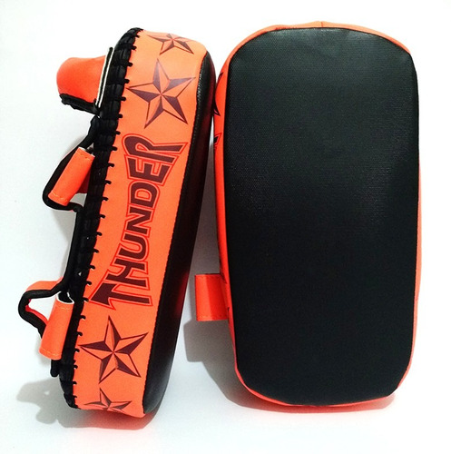Aparador De Chute Muay Thai Manopla Pao Thunder Fight R$ 159,90 no MercadoLivre