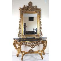 Aparador Est Classico Folhado À Ouro Marmore E Espelho