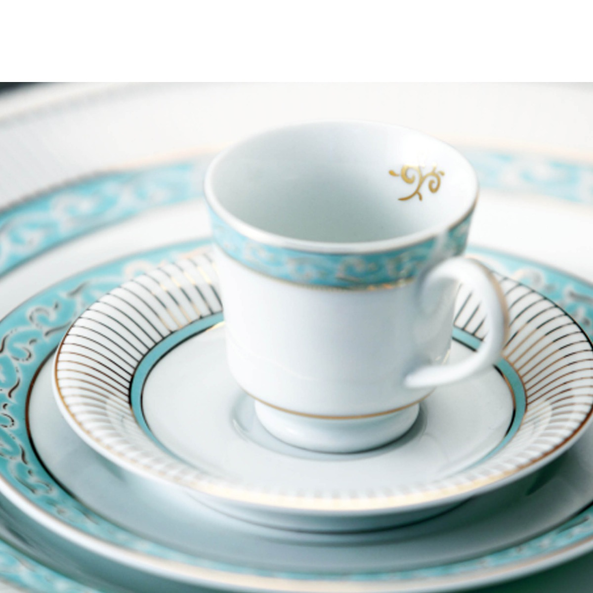 Aparelho De Jantar Audrey Schmidt Porcelana Azul 42 Peças R$ 1.649  #233C37 1200x1200