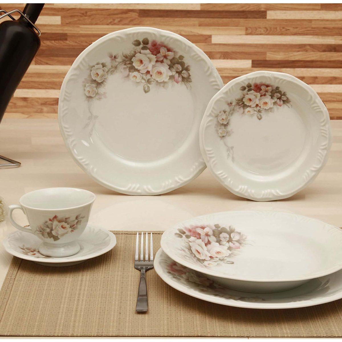 Aparelho De Jantar Eterna Schmidt Porcelana 30 Peças R$ 599 90 no  #74492C 1200x1200