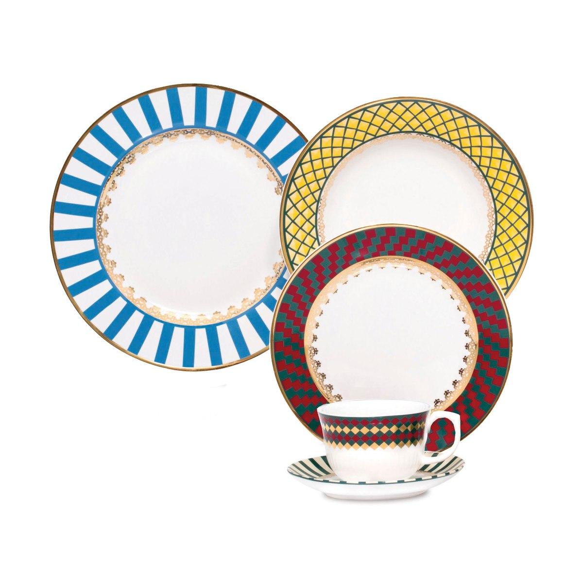 Aparelho De Jantar Flamingo São Basilio Oxford Porcelana 20 R$ 604  #C19E0A 1200x1200