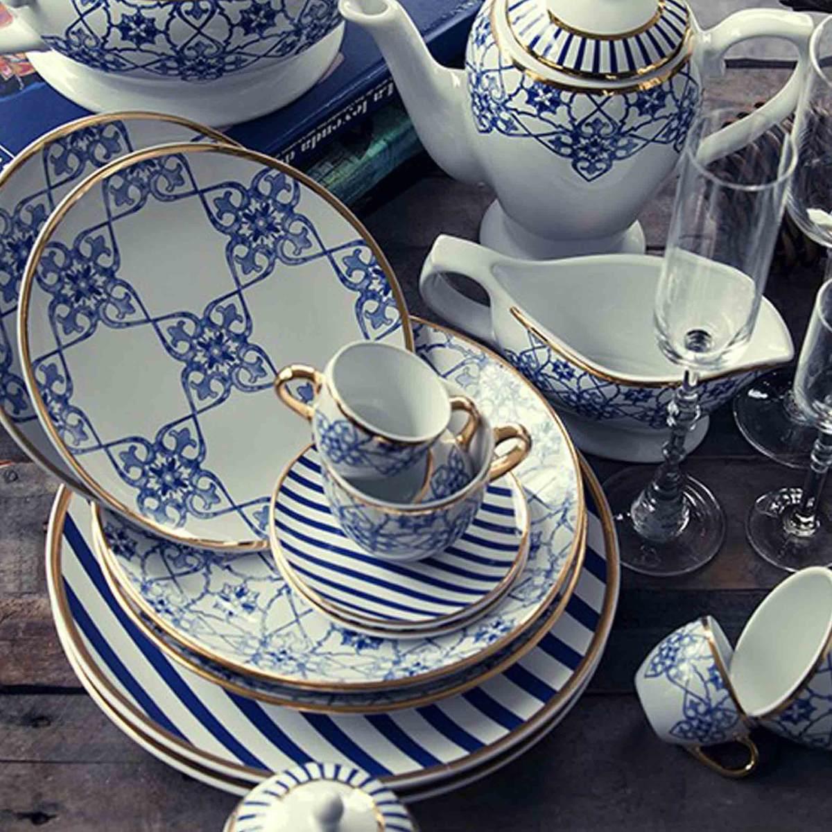 Aparelho De Jantar Lusitana Porcelana 42 Peças Oxford R$ 1.199 90  #384264 1200x1200