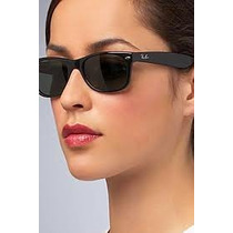 Óculos Wayfarer 2132 Preto Fosco Lente Verde G15 Original