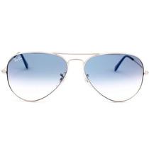 Óculos 3025 Prata Lente Azul Degrade Médio Original