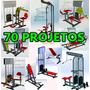 70 Projetos Aparelhos De Academia + Projeto Curvadora