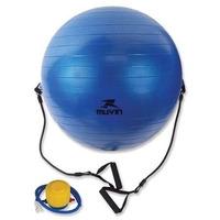 Bola Suiça Muvin Extensor E Alça 65cm Yoga Pilates Fitness