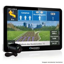 Gps Discovery 7 Polegadas Tv Digital + Câmera Ré + Mapa 2015