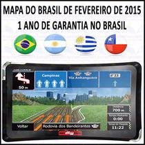 Gps Guia Quatro Rodas Slim 4.3 - 4310 Sem Tv- Mapa 2015