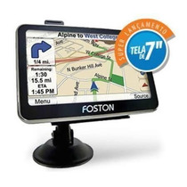 Gps Foston Fs-3d717 Câmera De Ré E Tv Digital Avisa Radar