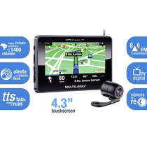 Gps Multilaser Tracker 4.3 Tv Digital + Camera De Re Auto