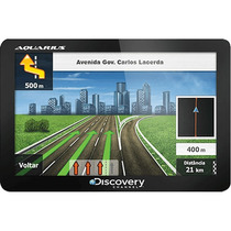 Gps Automotivo Aquarius Discovery Channel 4.3 Slim Touch
