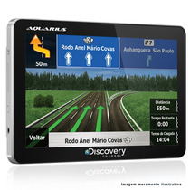 Gps Automotivo Aquarius 4.3 Polegadas Com Aviso De Radar