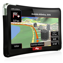 Gps Automotivo 4.3 Tv Digital Sd Aquarius Guia Quatro Rodas