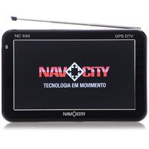 Gps Navcity Nc-550 Tela 5´ Bluetooth Transmissor Fm Seminovo