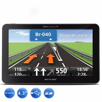 Gps Automotivo Multilaser Gp034 C/tv Digital 4.3 Avisa Radar