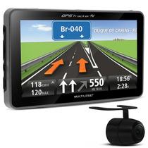 Gps Tracker 3 Tela 4.3 Fm E Tv Câmera De Ré Gp035 Multilaser