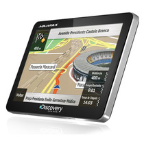 Gps Discovery Channel 4,3 Tela Touch Slim Mapa 3d Mp3 Mp4
