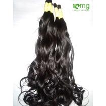Cabelo Humano Natural P/mega Hair Leve Ondas 50 Cm 150 Grama