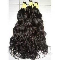 Aplique Mega Hair- Cabelo Humano Ondulado 60 Cm 100 Gramas