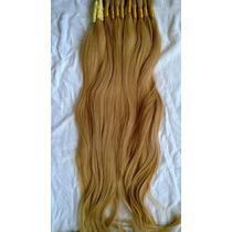 Cabelo Humano-mega-hair Loiro Médio 70cm 100 Gramas.