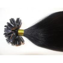 Mega Hair Humano Ponta De Queratina Só 50g 45cm Cor Preto