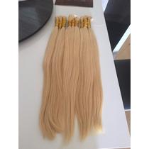 Cabelo Humano Loiro Claro Para Mega Hair 70cm 100 Gramas
