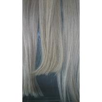 Mega Hair Fita Adesiva 60cm Platinado 5a Pronta Entrega