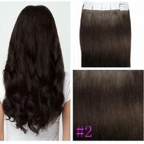 Mega Hair Adesivo 5a 40 Peças Castanho 60cm Pronta Entrega