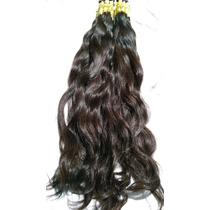 Mega Hair Castanho Natural Ondulado 60 Cm 100gr Frete Gratis
