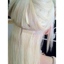 Aplique Cabelo Humano Fita Adesiva Mega Hair Remy 5a