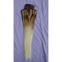 Aplique Tic Tac Cabelo Humano Ombré Hair 150gr 50cm 3 Peças