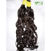 Cabelo Humano Natural P/mega Hair Leve Ondas 70 Cm 100gramas